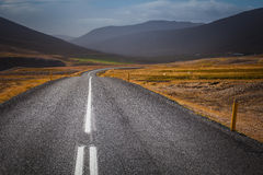 The road in Iceland landscape Stock Photography