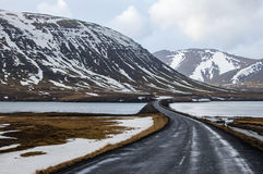 Road in Iceland. This is a photo of  road curve in Iceland Royalty Free Stock Photo