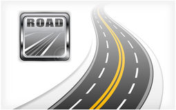 Road icon with highway Stock Photo