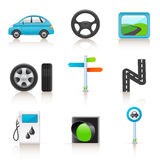 Road icon set Royalty Free Stock Photography