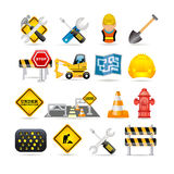 Road icon set royalty free illustration