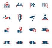 Road icon set Royalty Free Stock Image