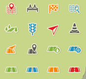 Road icon set Royalty Free Stock Images