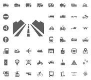 Road icon. Way. Traffic icon. Transport and Logistics set icons. Transportation set icons.  Stock Photography