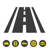 Road icon on white background. Vector illustration stock illustration
