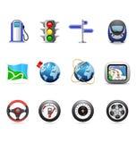 Road icons Stock Photos