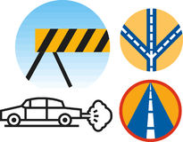 Road icons Royalty Free Stock Photo