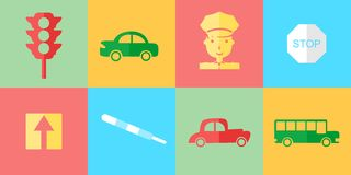 The road icons Royalty Free Stock Photo