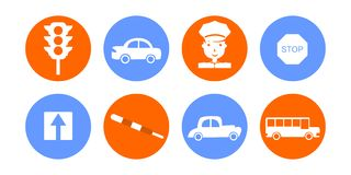 The road icons Royalty Free Stock Image