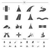 Road icons vector Royalty Free Stock Photos