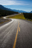 Road II. Beautiful view of a lonely road somewhere in British Columbia, Canada Stock Photography