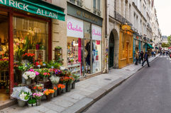 Road on the Ile Saint Louis in Paris, France Royalty Free Stock Photo