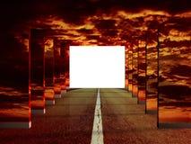 Road illusion Royalty Free Stock Image