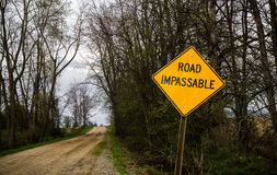 Road Impassable Royalty Free Stock Image