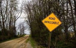 Road Impassable Royalty Free Stock Image
