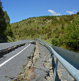 Road Impassable at The Top of The Hunderlee Hills. stock photo