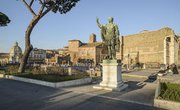 Road of the Imperial forums rome italy europe Stock Photography