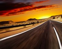 Free Road In Desert Stock Photo - 10461420