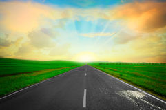 Road In Field Royalty Free Stock Image