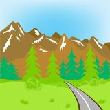 Road In Mountains Stock Photography