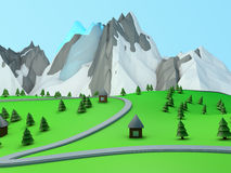 Free Road In Mountains Royalty Free Stock Images - 56410599