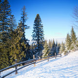 Road In Winter Mountains Royalty Free Stock Photos