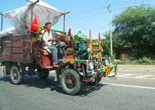 On the road in India Stock Photography