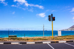 Road by the Indian Ocean Royalty Free Stock Photo