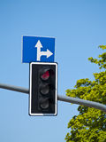 Road indicator and arrows Stock Image