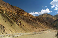 Road and Indus River. Road near Indus River at Ladakh, Jammu Kashmir, India Royalty Free Stock Photography