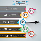 Road infographic design template and marketing icons. Royalty Free Stock Photography