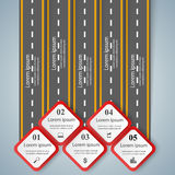 Road infographic design template and marketing icons. Royalty Free Stock Image