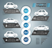 Road infographic design template and marketing icons. Car icon. Stock Photo