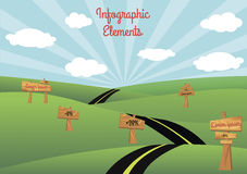 Road Infographic Elements Royalty Free Stock Photos