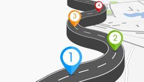 Road infographic illustration Stock Photos