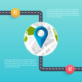Road infographic template. Flat design vector Stock Photo