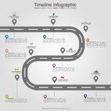 Road infographic timeline element layout. Vector Stock Photo