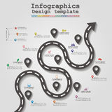 Road infographic timeline element layout. Vector Stock Photos
