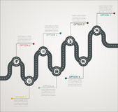 Road infographic timeline stepwise structure with icons Royalty Free Stock Images