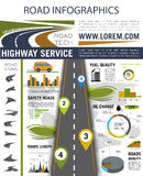 Road infographics for presentation design Royalty Free Stock Photo