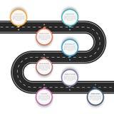 Road Infographics Royalty Free Stock Photo