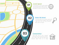Road Infographics Stock Image