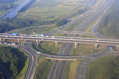 Road interchange in Amsterdam Royalty Free Stock Images