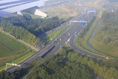 Road interchange in Amsterdam Royalty Free Stock Photo