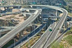 Road interchange, multiple levels Royalty Free Stock Photography