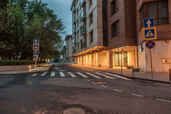 Road intersection in Khamovniki district. Moscow Royalty Free Stock Photo