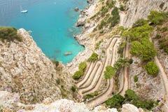 On the road. Island Capri. Italy. stock photo