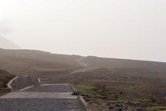 Road of the island of Sao Nicolau, Cape Verde Stock Images