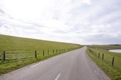 Road on the island of Texel Stock Photography
