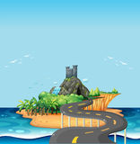 Road and island Royalty Free Stock Photos